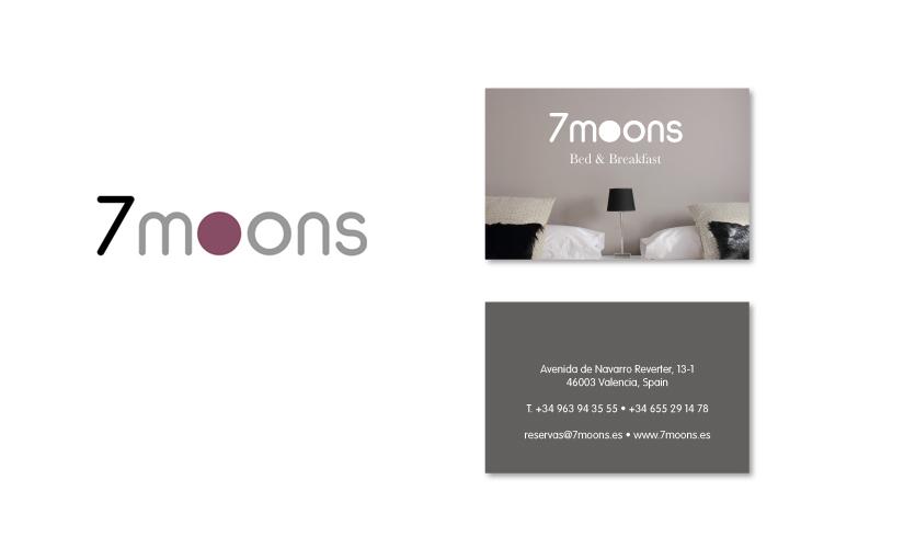 Tarjeta de visita + logo 7 moons